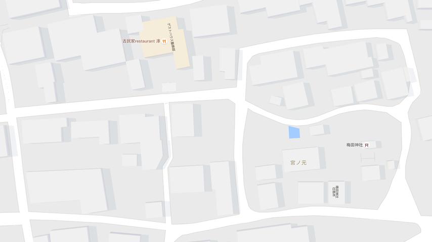 ゲストハウス藤原邸地図