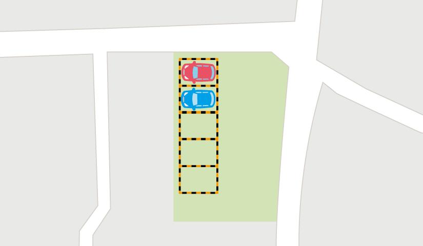 駐車場の枠線