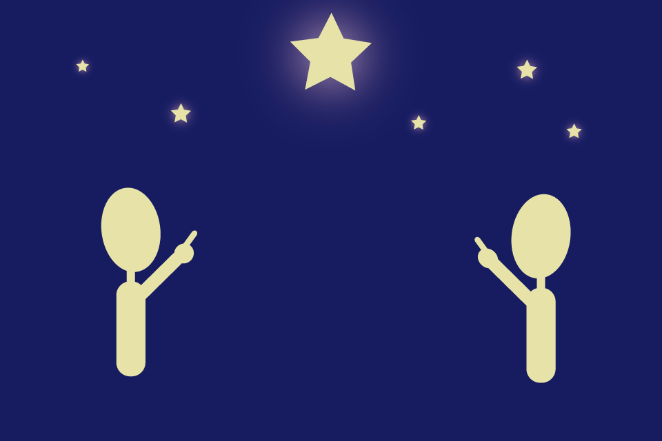 星をいっしょに見る人々
