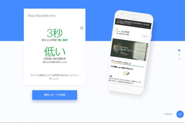 Test my site の結果